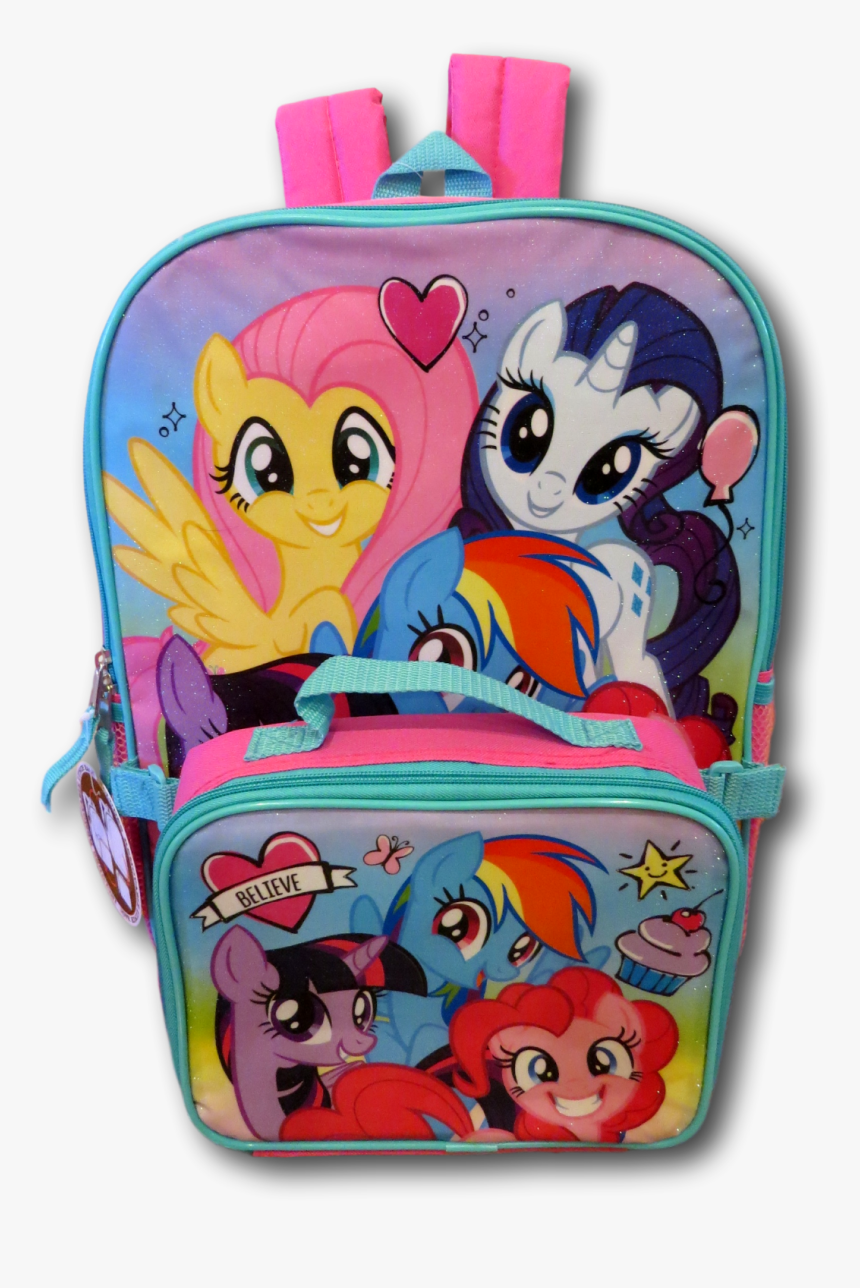 My Little Pony Girls School Backpack Lunch Box Set - Backpack, HD Png Download, Free Download