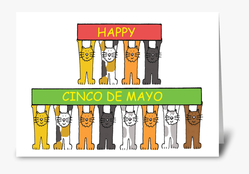 Cinco De Mayo Fun Cats - Teacher Retirement Greeting Cards, HD Png Download, Free Download