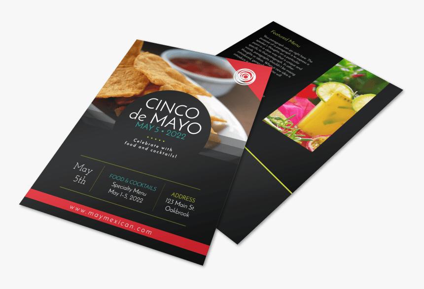 Cinco De Mayo Restaurant Menu Flyer Template Preview - Flyer, HD Png Download, Free Download