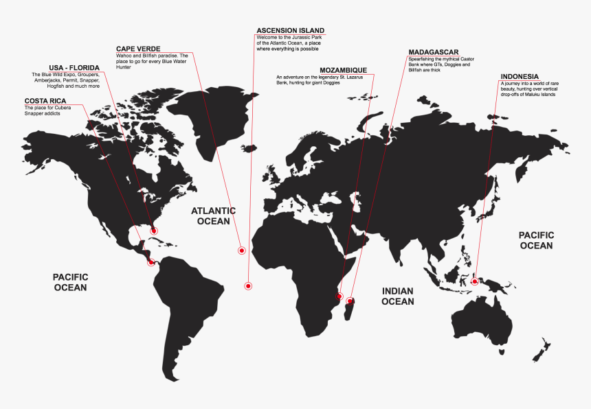 Spearfishing Destinations World Map - International Happiness At Work Week, HD Png Download, Free Download