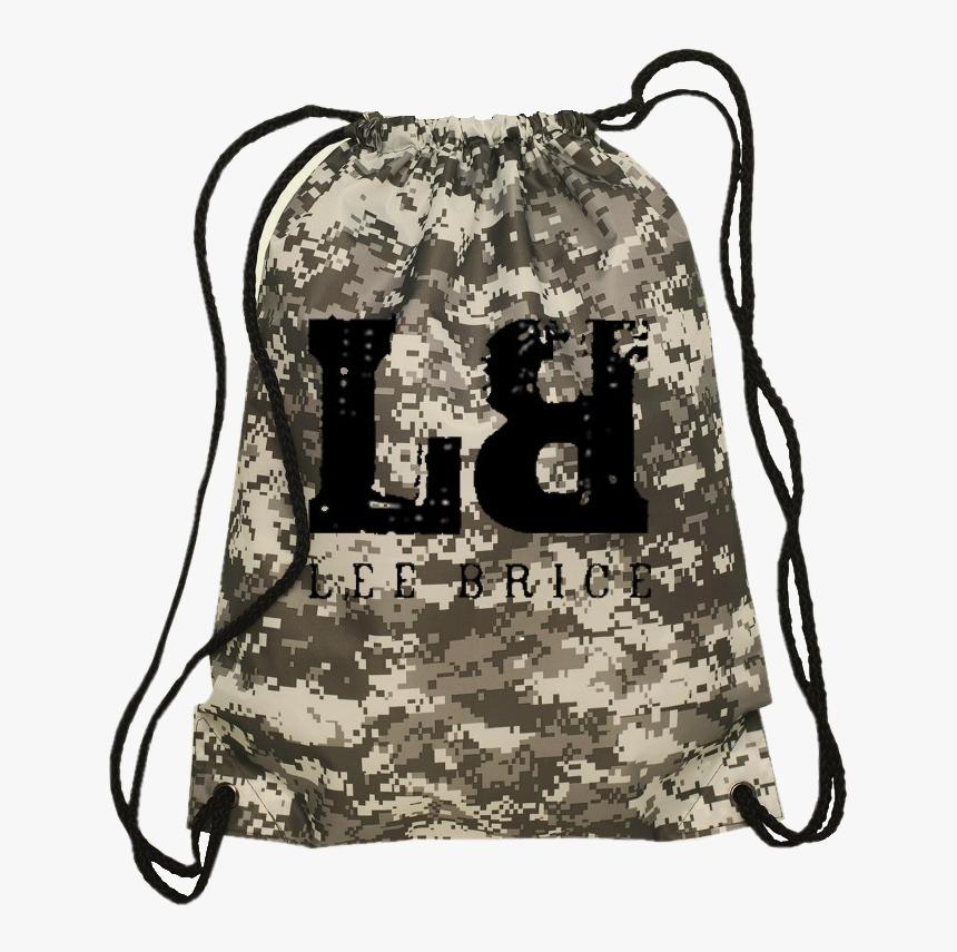 "Lee Brice Digital Camo Drawstring Bag""  Title=""lee - Drawstring, HD Png Download, Free Download"