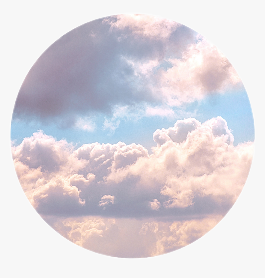 #wolken #icon #himmel #sky #tumblr #aestetic #circle - Aesthetic Plain Background Clouds, HD Png Download, Free Download