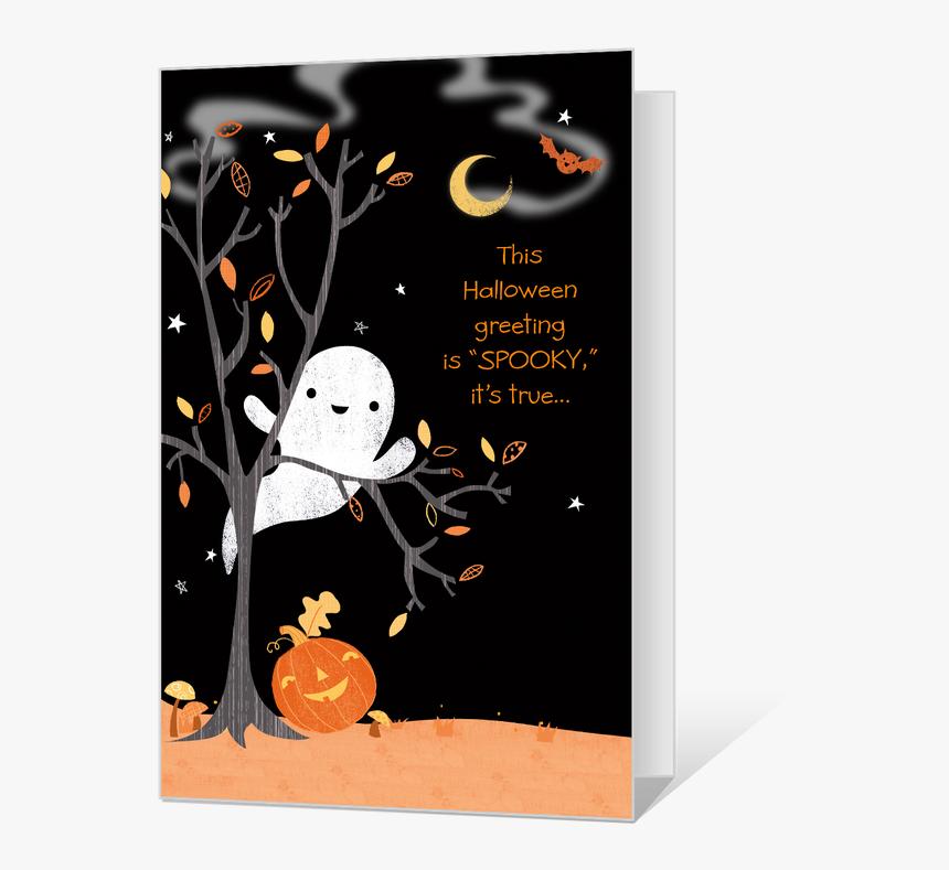 Spooky Greetings - Printable Halloween Birthday Card, HD Png Download, Free Download