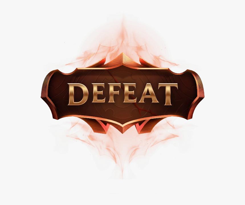 Defeat Lol Png, Transparent Png, Free Download