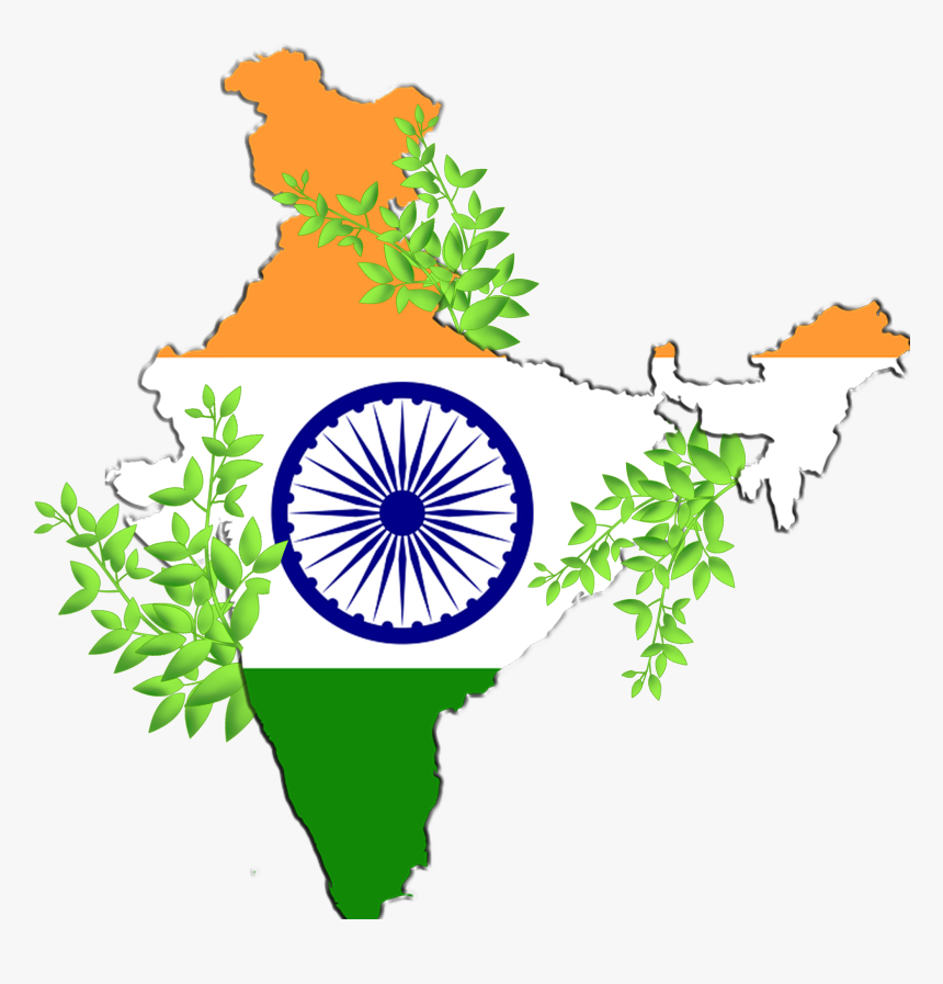 Once In A Year We Are Celebrating Independence Day - India Flag Map Png, Transparent Png, Free Download