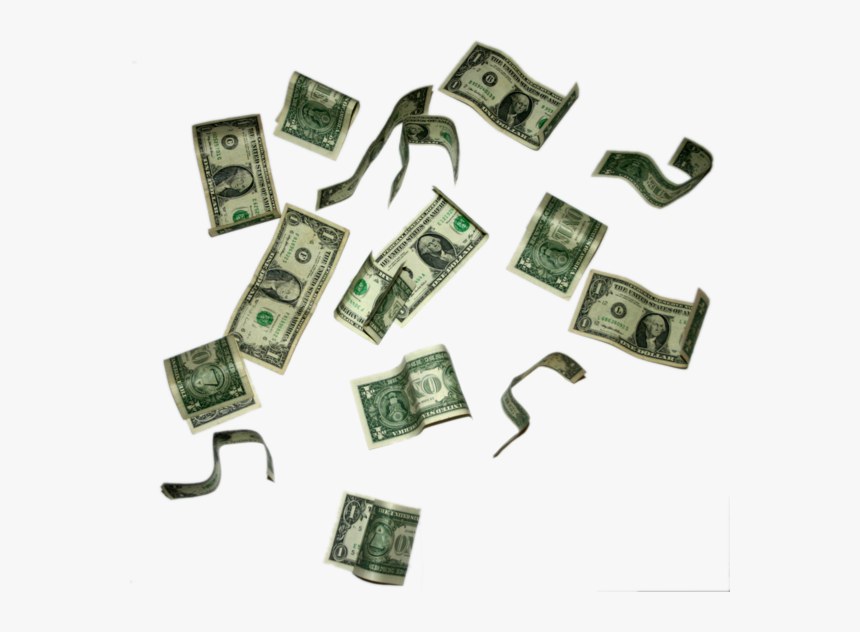 Clip Art Flying Clip Free Techflourish - Dollar Bills Falling Png, Transparent Png, Free Download
