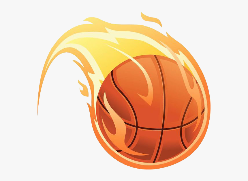 Basketball Fire Illustration, HD Png Download, Free Download