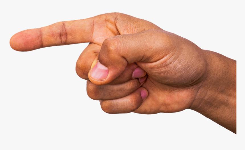 Finger Pointing Left, HD Png Download, Free Download