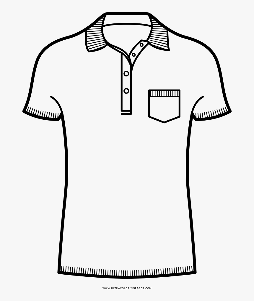 Polo Shirt Coloring Page Hd Png Download Kindpng