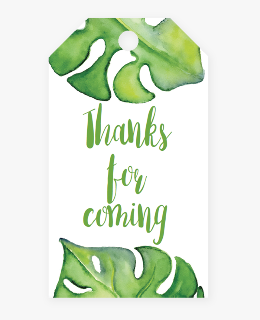 Printable Banana Leaf Favor Tag Template By Littlesizzle - Template Printable Leaf Gift Tag Template, HD Png Download, Free Download