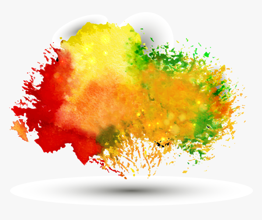 Multicolor Background Clipart Images Gallery For Free - Colorful Watercolor Splash Png, Transparent Png, Free Download