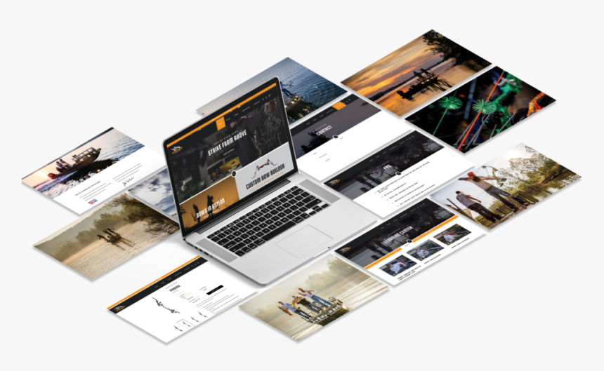Oneida Eagle Bows Hook Creative Website Mockup Website Mockup
