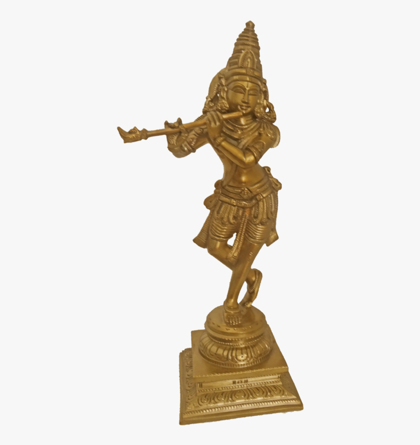 Amazing Bronze Standing Krishna Statue, 4 X 12 Inch, - Bronze Sculpture, HD Png Download, Free Download