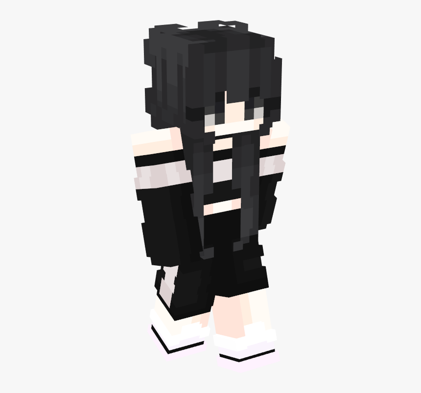 Minecraft Skin Black Hair Girl, HD Png Download, Free Download
