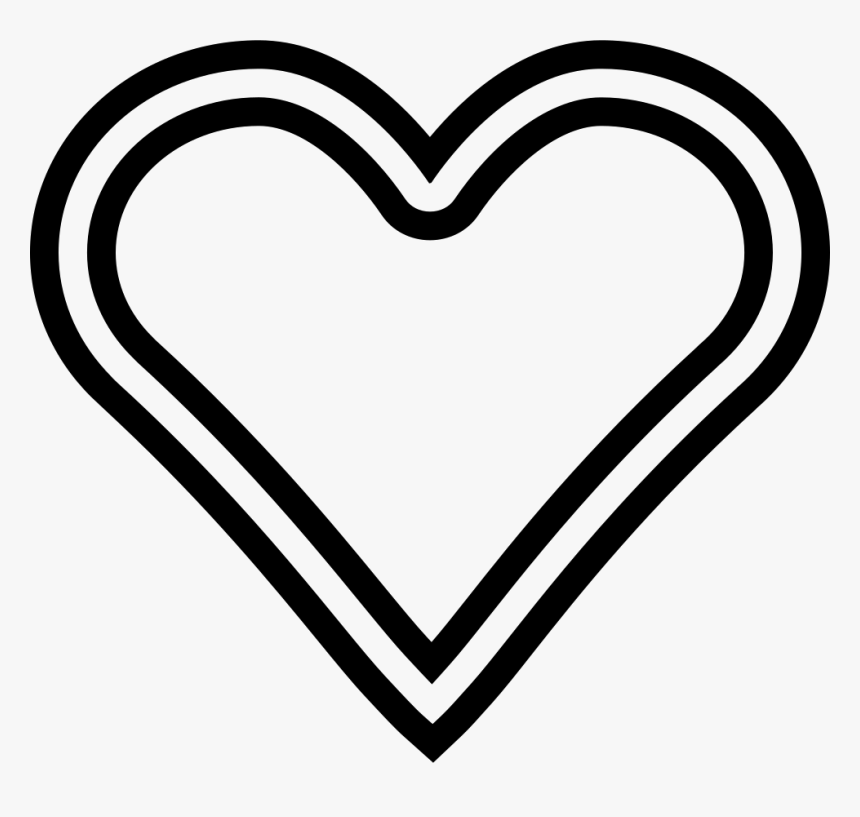 Passion Heart - Double Line Heart Shape, HD Png Download, Free Download