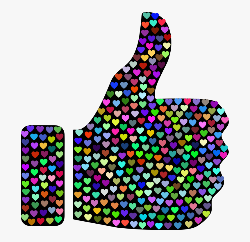Purple,thumb Signal,computer Icons - Thumbs Up Hearts, HD Png Download, Free Download