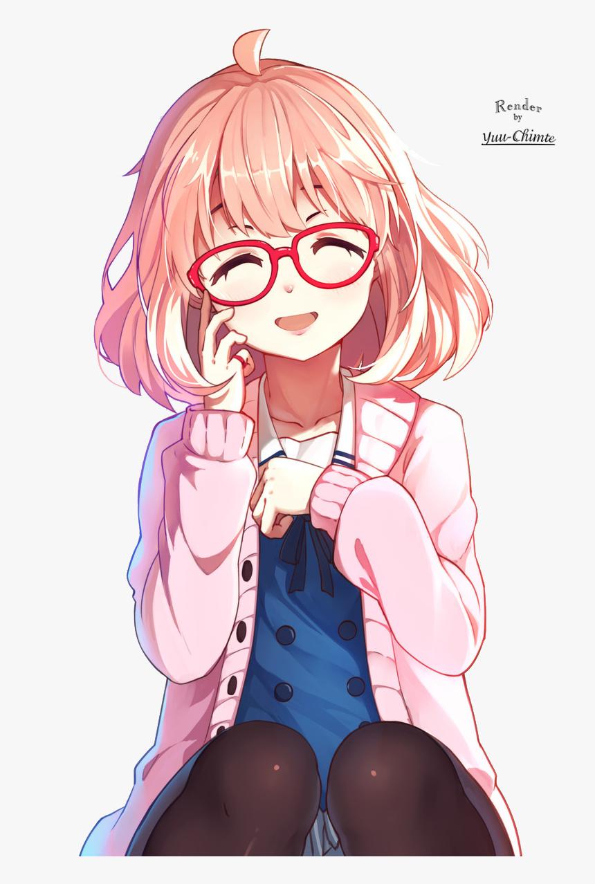 Happy Anime Girl Smile, HD Png Download - kindpng