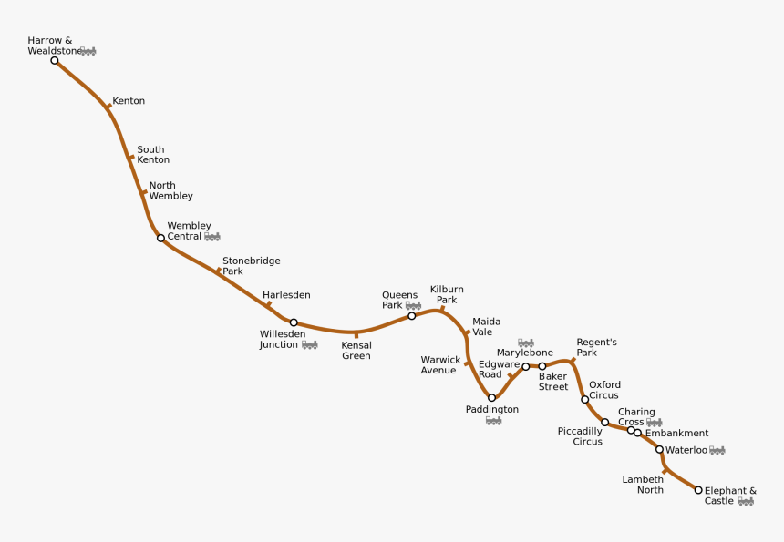 London Underground Map Bakerloo Line, HD Png Download, Free Download