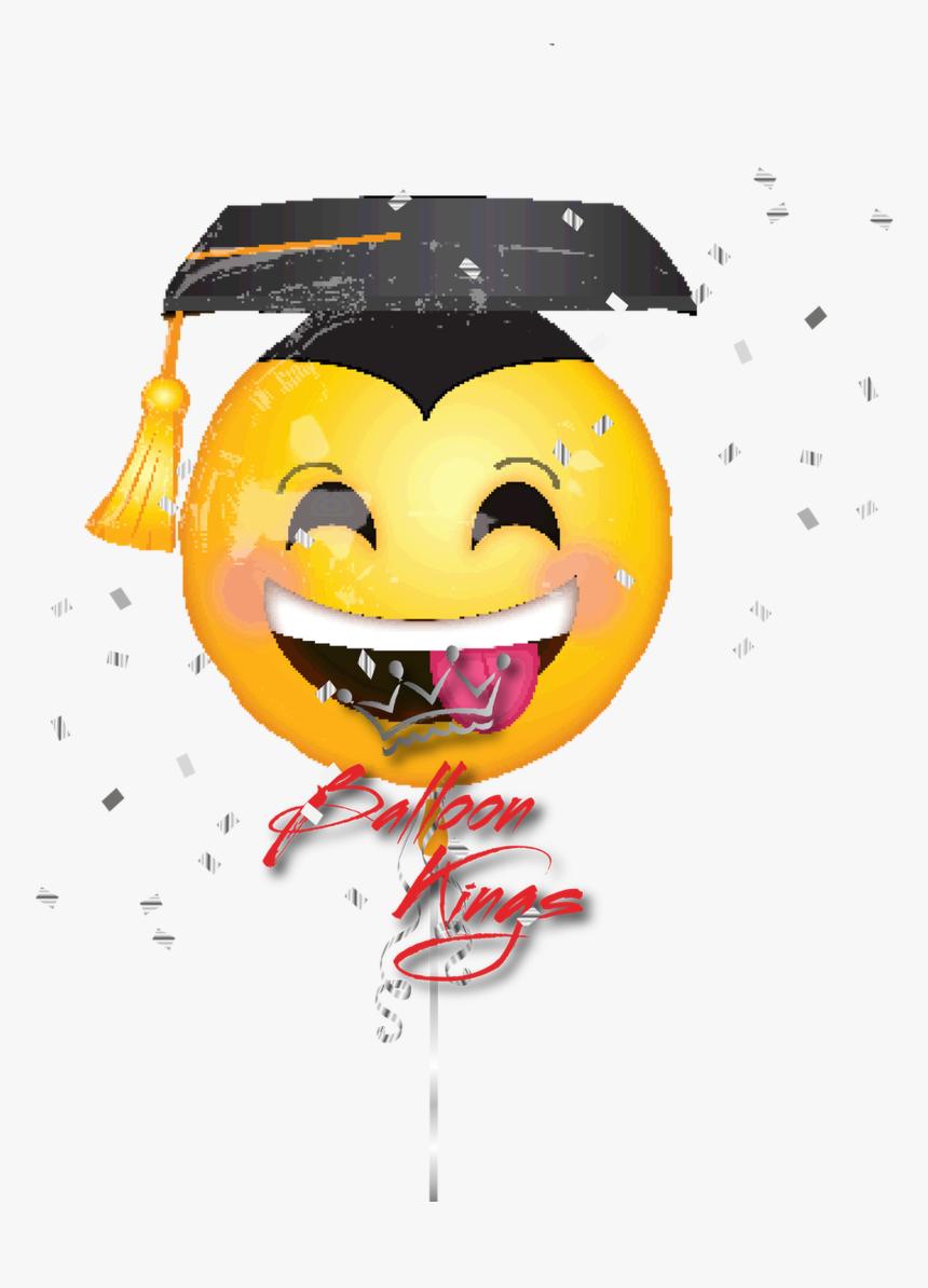 Emoji Con Gorro De Graduacion, Hd Png Download - Emoji Graduation Balloon, Transparent Png, Free Download