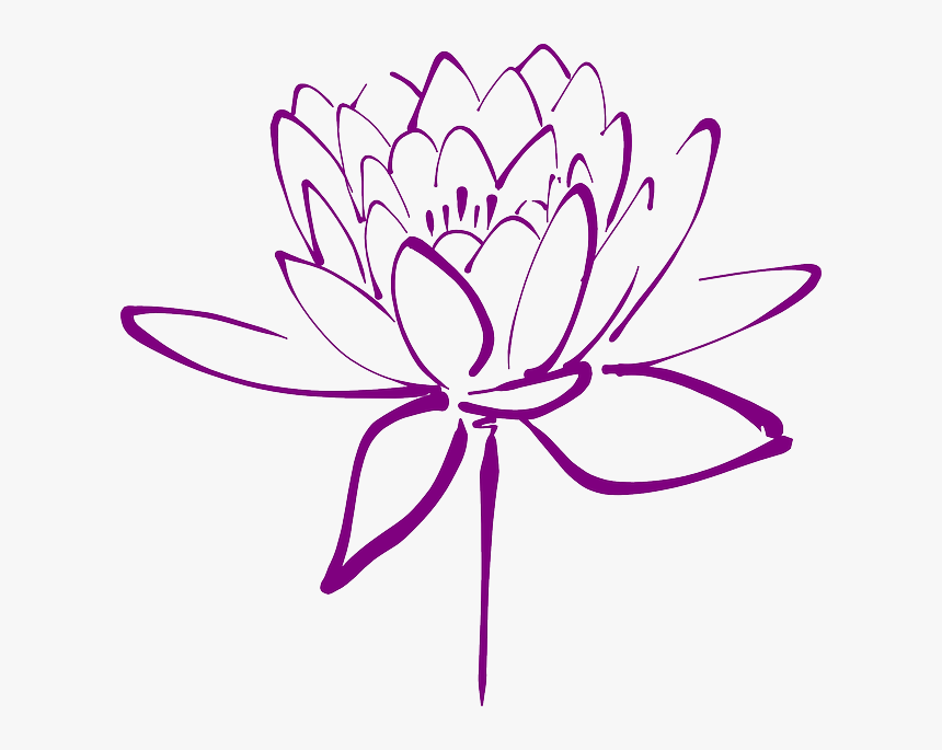 Clipart Lotus Flower Purple, HD Png Download, Free Download