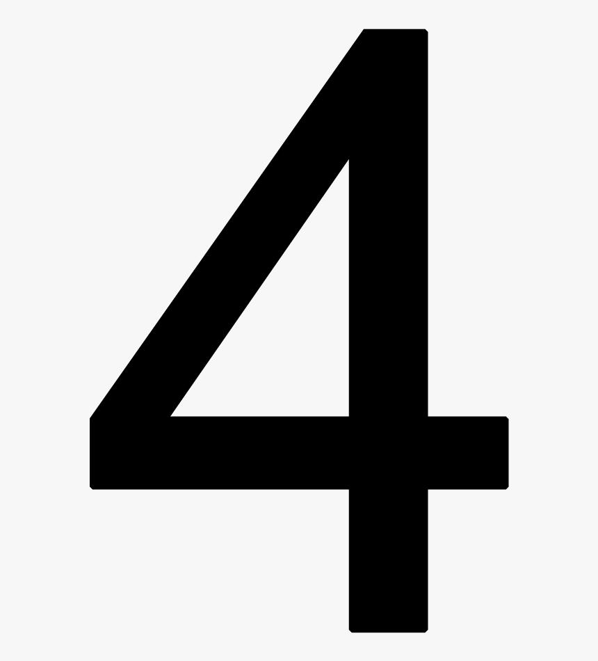 Number 4 Png - Number 4 Transparent Background, Png Download, Free Download