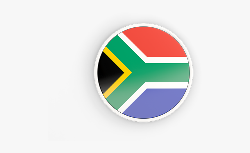 Round Icon With White Frame - South Africa Flag Icon, HD Png Download, Free Download