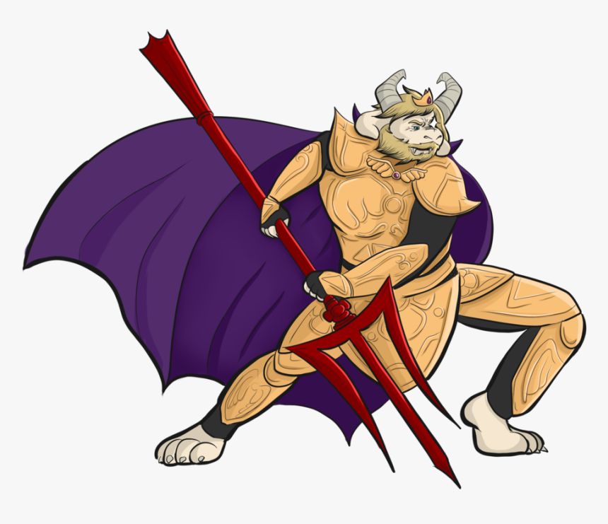 """asgore Pose Practice "" - Cartoon, HD Png Download, Free Download"