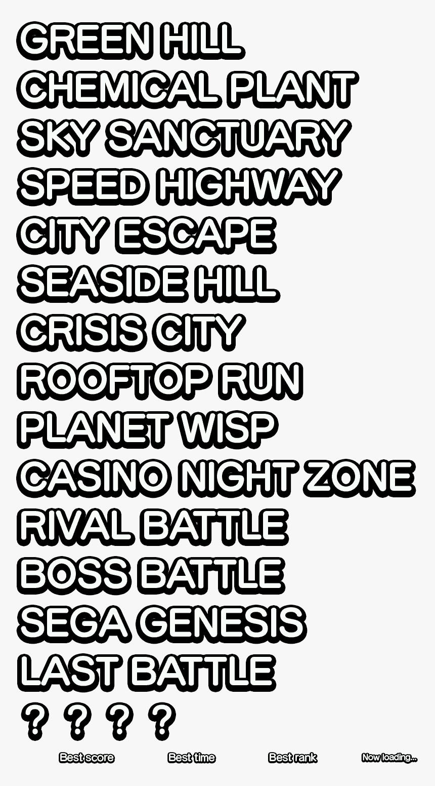 Sonic Generations Level Font Hd Png Download Kindpng