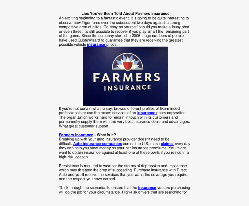 Farmers Auto Insurance >> Farmers Insurance Group Hd Png Download Kindpng