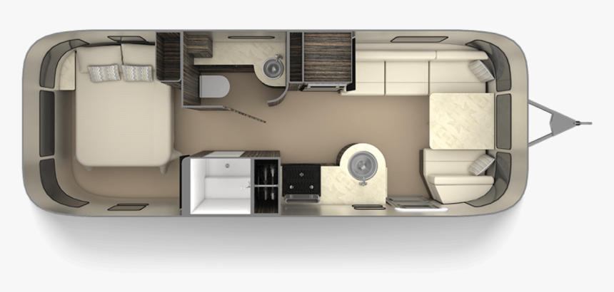 Airstream Trailer Floor Plan, HD Png