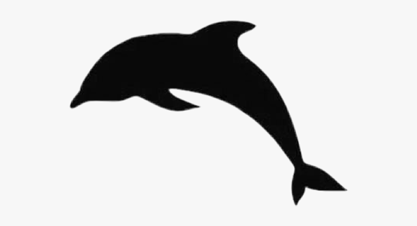 #delfin #czarny - Dolphin Jumping Silhouette, HD Png Download, Free Download