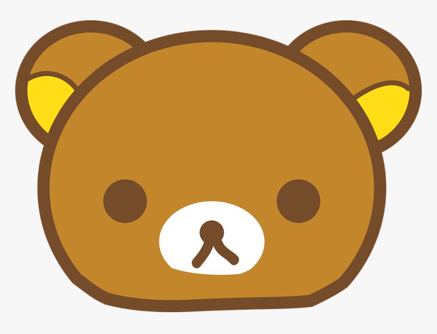 Bear Emoji Animal Cartoon Cute Emoticon Head Rilakkuma Face Hd Png Download Kindpng