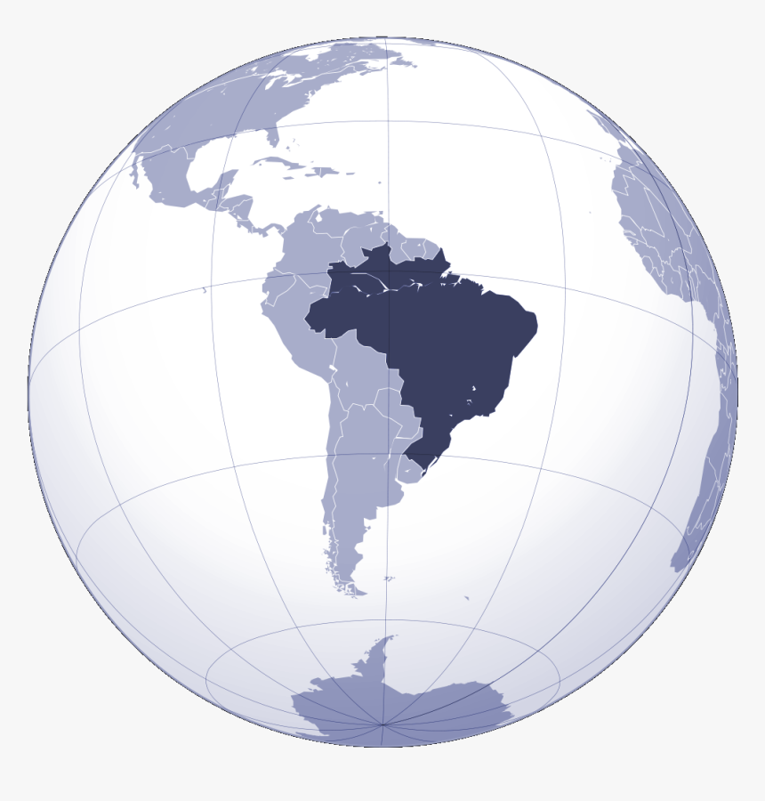 Where Is Brazil Located Large Map - World Map, HD Png Download, Free Download