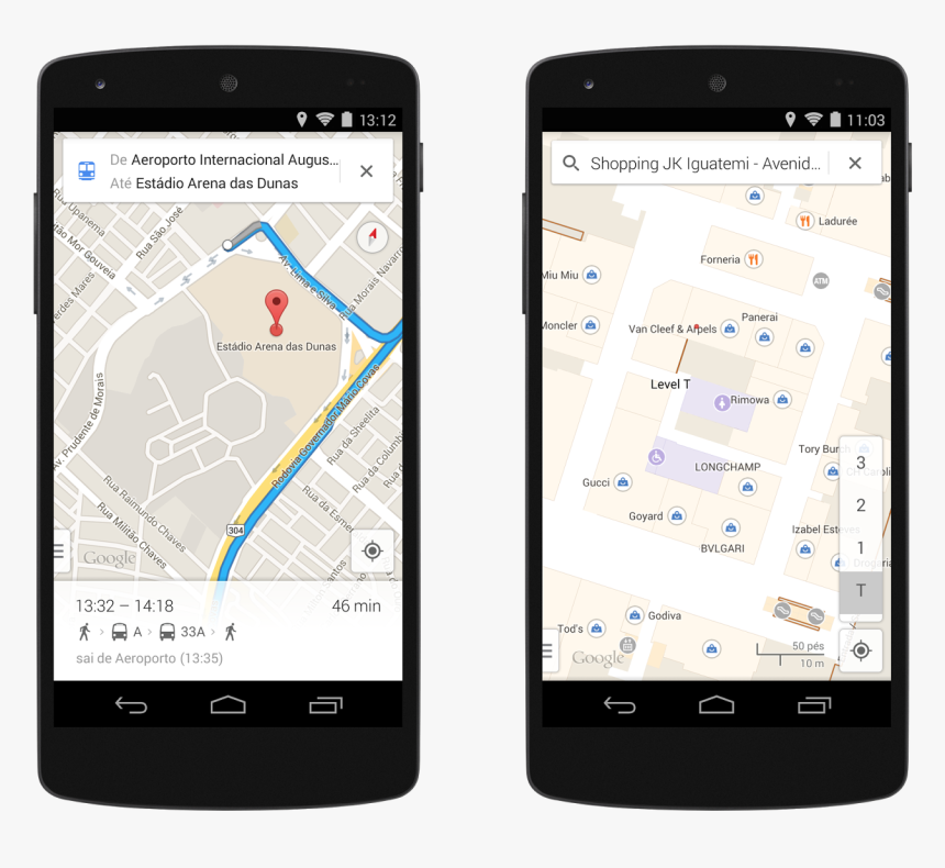 Street View In Brazil - Google Maps Mobile View, HD Png Download, Free Download