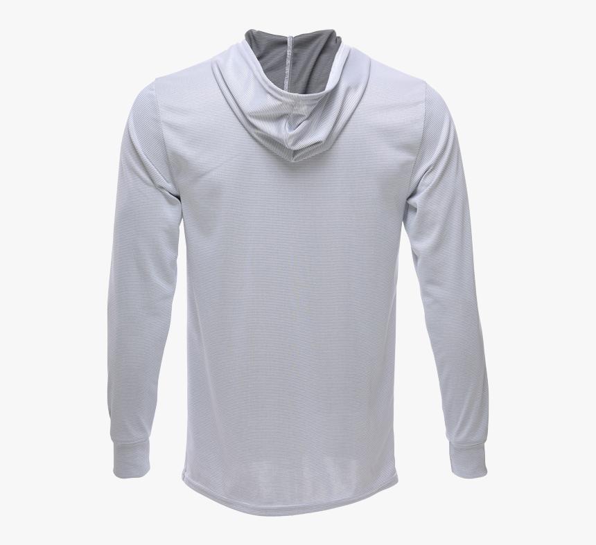 Unisex Long Sleeve Hoodie Bamboo Dry Shirt Back, Grey - Long Sleeve T Shirt Hoodie Back, HD Png Download, Free Download