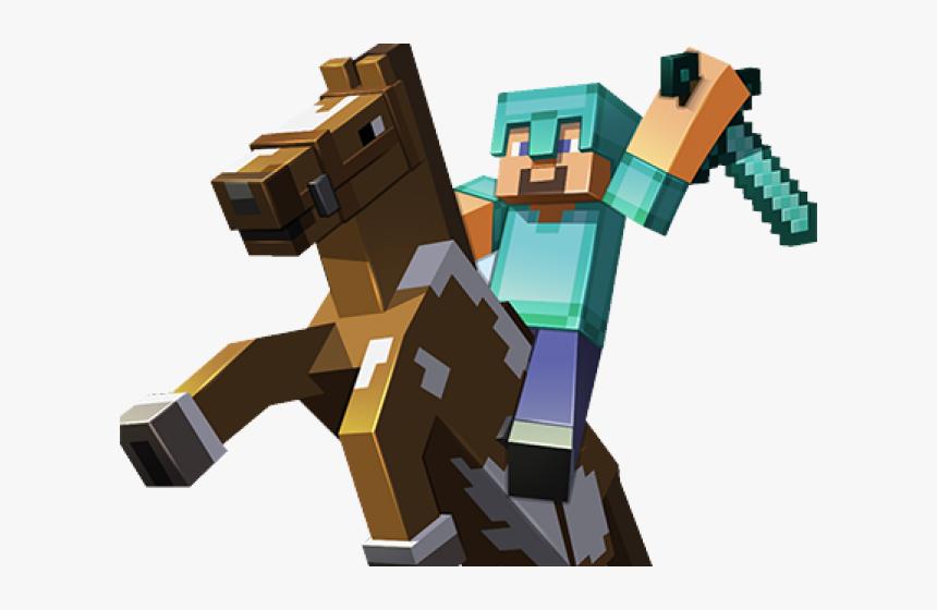 Minecraft Clipart Minecraft Horse Minecraft Horse And Steve Hd