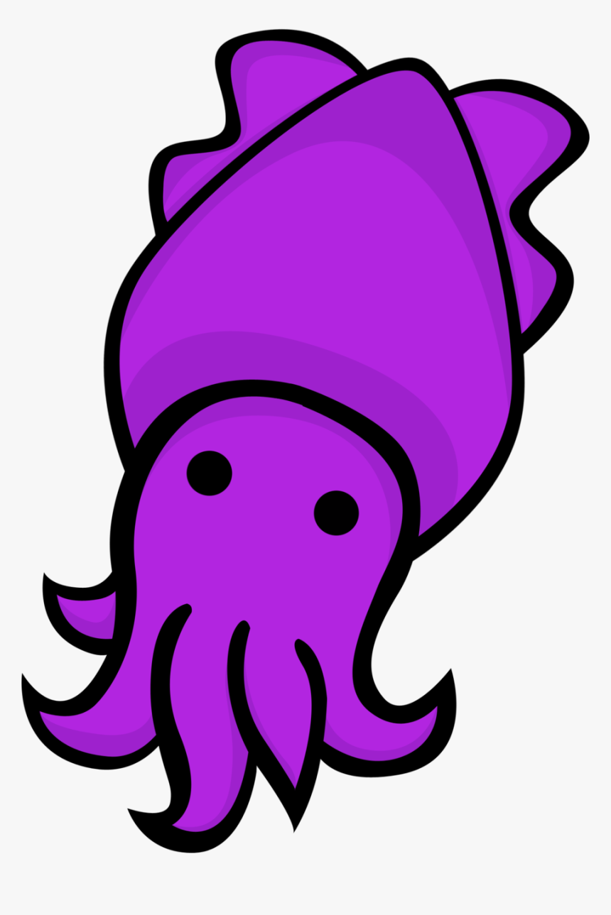 Vector Royalty Free Library Purple Free On Dumielauxepices - Cartoon Squid Png, Transparent Png, Free Download