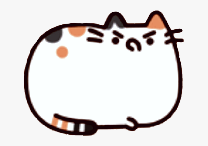 #pusheen #cat #madface #madcat #cute #kawaii - Pusheen Sticker, HD Png Download, Free Download