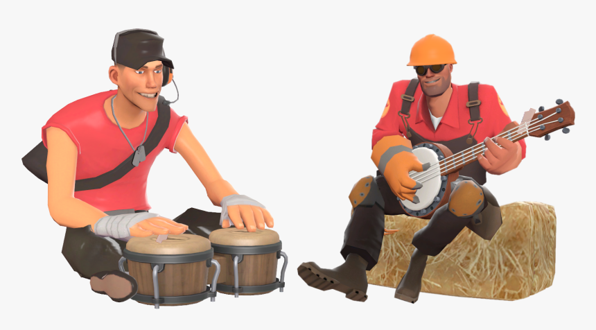 Poker Scout And Engineer Team Fortress 2 Hd Png Download Kindpng