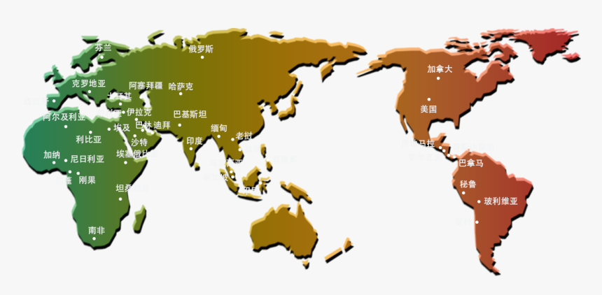 Market Map - Asia North America Map, HD Png Download, Free Download