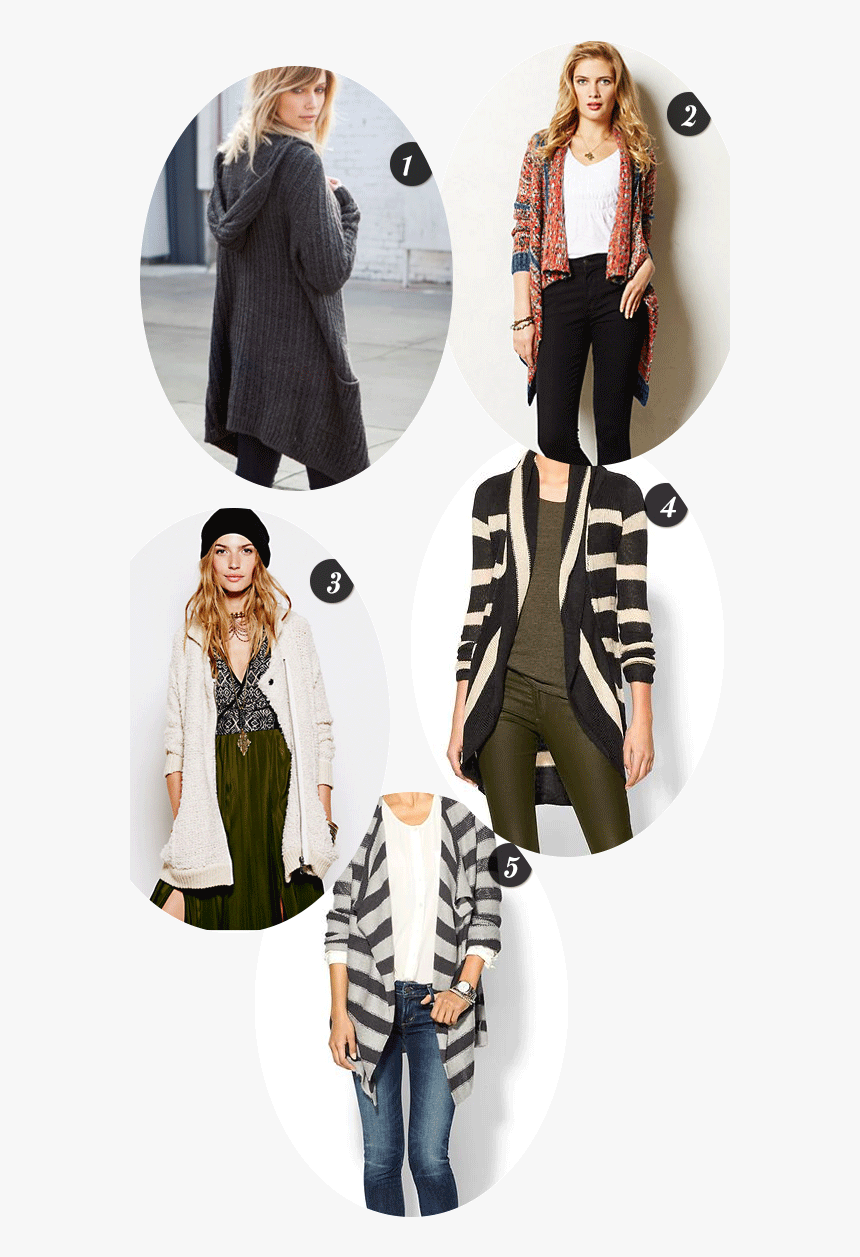 Style Cardigans - Fashion Model, HD Png Download, Free Download