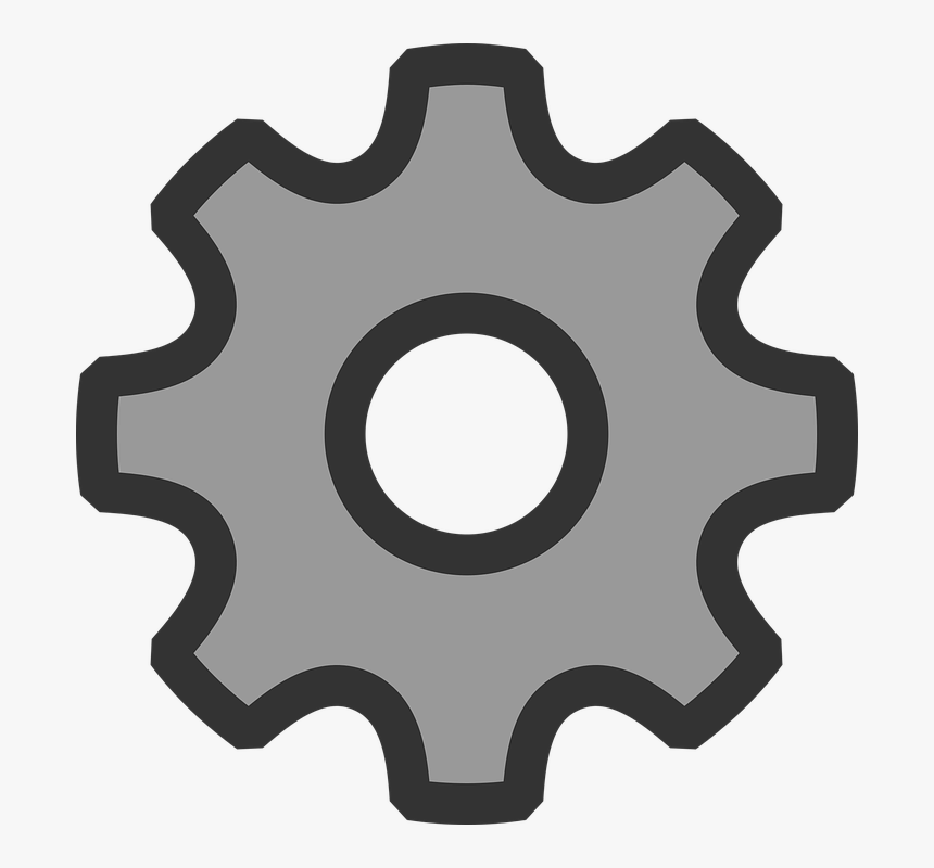 Computer Gear Grey Gui Icon Menu Options Os Settings Clipart Png Transparent Png Kindpng