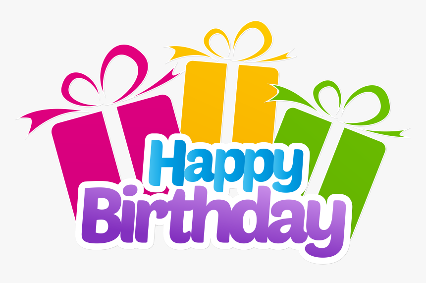 Happy Birthday With Gifts Png Clip Art Imageu200b Gallery - Happy Birthday Png Text, Transparent Png, Free Download