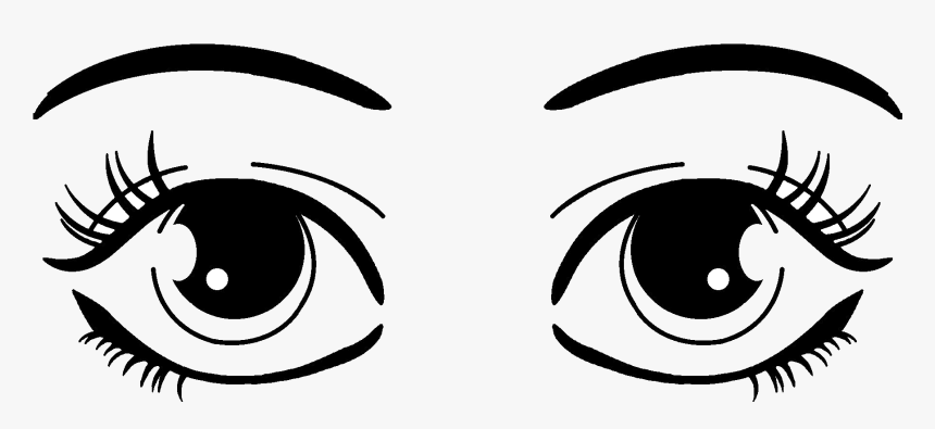 Eyes Eye Clipart Cute Frames Illustrations Hd Images - Black And White Clip Art Of Eyes, HD Png Download, Free Download