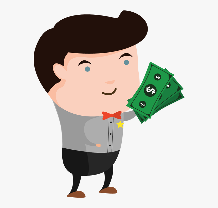 Money -people With Money Clipart - Man With Money Cartoon, HD Png Download, Free Download