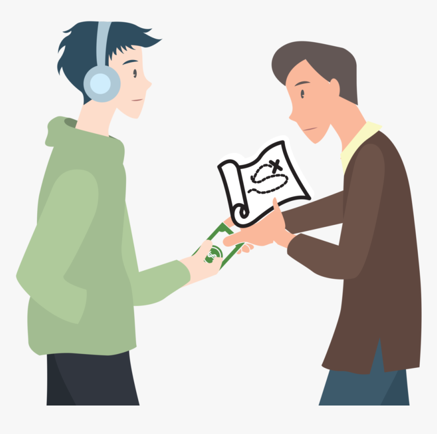 Person Giving Money To Someone Clipart - Giving Money Clipart, HD Png Download, Free Download