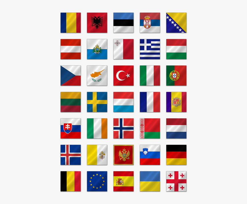 Europe Clipart Flag Europe - European Flags Transparent, HD Png Download, Free Download