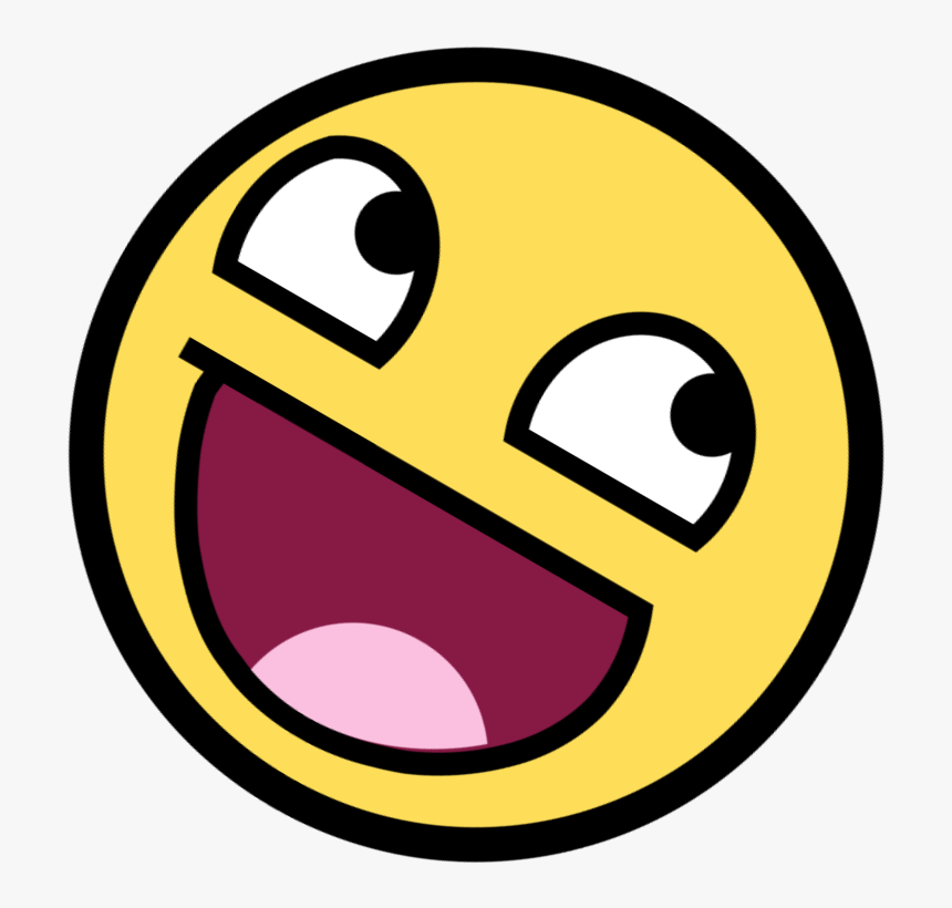 Smiley Face Animation - Happy Troll Face Emoji, HD Png Download - kindpng