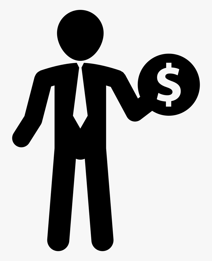 Money Incomes For A Businessman - People With Money Icon, HD Png Download, Free Download