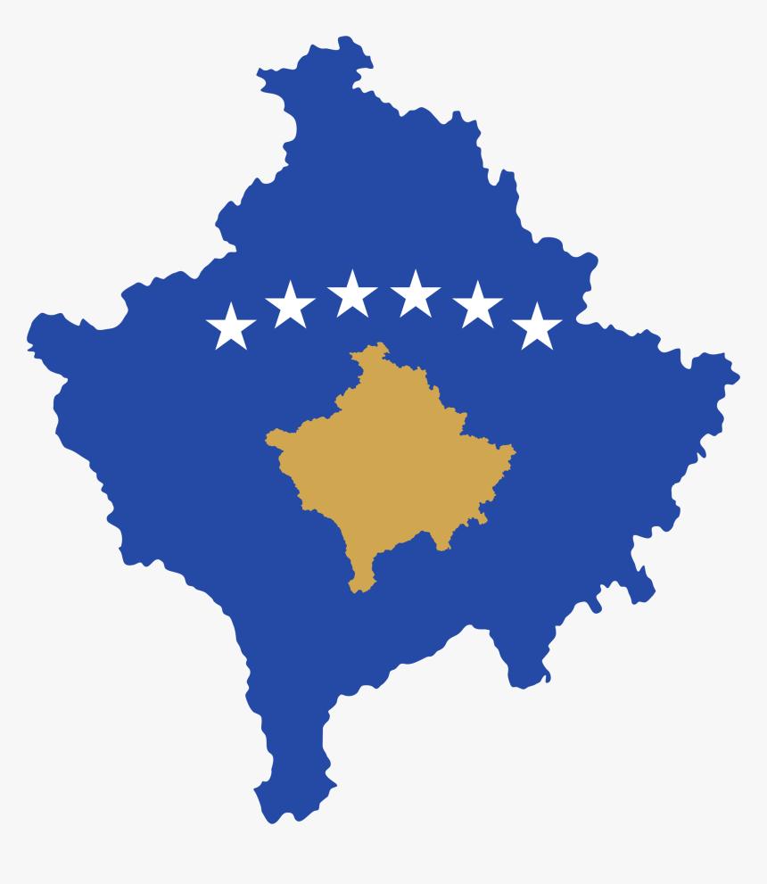 Kosovo Flag Map Png, Transparent Png, Free Download